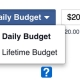 What is the difference between Facebook's Daily and Lifetime budgets?