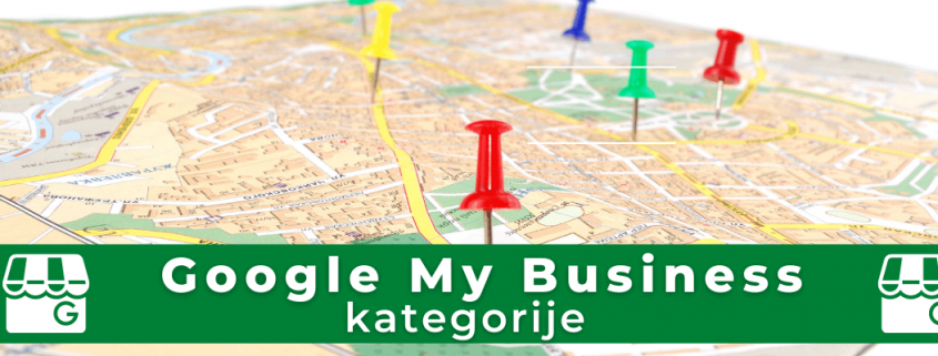 Google My Business kategorije